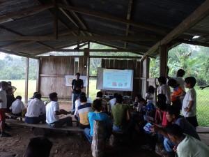 Taller en Amazonia ecuatoriana